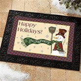 Let It Snow Snowman Personalized Doormat- 18x27 - 7643