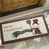 Let It Snow Snowman Personalized Oversized Doormat- 24x48 - 7643-O