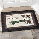 Let It Snow Snowman Personalized Doormat- 20x35 - 7643-M