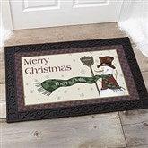 Let It Snow Snowman Personalized Doormat- 20x35 - 7643-M