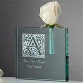 Floral Monogram Personalized Bud Vase - 7653