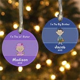 Sister/Brother Personalized Ornament - 7655