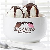 Ice Cream Parlor Personalized Bowl