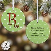 2-Sided Dot To Dot Personalized Ornament- Small - 7704-2