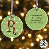 2-Sided Dot To Dot Personalized Ornament - 7704-2