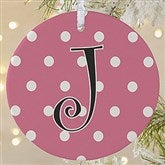 1-Sided Dot To Dot Personalized Ornament-Large - 7704-1L