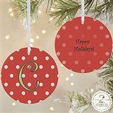 2-Sided Dot To Dot Personalized Ornament-Large - 7704-2L