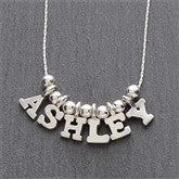 One & Only Silver Personalized Necklace - 5-8 Letters - 7705D-L