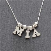 One & Only Silver Personalized Necklace - 1-4 Letters - 7705D-S