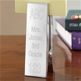 ABC, 123 Personalized Clothespin Note Holder