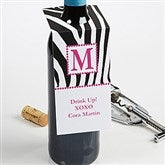 5 Designs Personalized Wine Bottle Tags - 7744