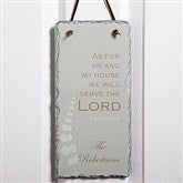 We Will Serve The Lord Personalized Slate Sign