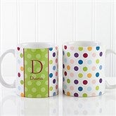 Personalized Polka Dot Coffee Mug 11 oz.- White - 7799-W