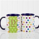 Personalized Polka Dot Coffee Mug 11oz.- Blue - 7799-BL