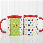 Personalized Polka Dot Coffee Mug 11oz.- Red - 7799-R