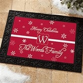 Winter Wonderland Personalized Recycled Rubber Back Doormat - 7808-S