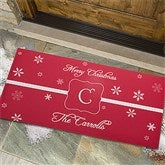 Winter Wonderland Personalized Oversized Doormat - 7808-O