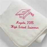 The Graduate Personalized Fleece Blanket- Cream - 7811-C