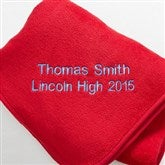 The Graduate Personalized Fleece Blanket- Red - 7811-R