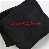 The Warmth of Love© Personalized Blanket- Black - 7847-B