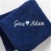 The Warmth of Love© Personalized Blanket- Navy - 7847-N