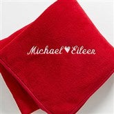 The Warmth of Love© Personalized Blanket- Red - 7847-R