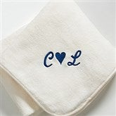 The Warmth of Love© Personalized Blanket- Cream - 7847-C