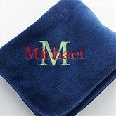 Navy Plush Fleece Blanket - 7850-N