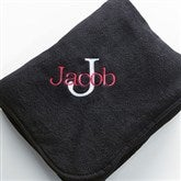 All About Me Fleece Blanket- Black - 7850-B