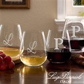 Luigi Bormioli® Monogrammed Stemless Wine Glass Set - 7943N