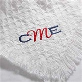 My Monogram© Embroidered Baby Blanket- Snow White - 7946-W