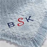 My Monogram© Embroidered Baby Blanket- Sky Blue - 7946-B