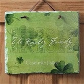 Irish Welcome Personalized Slate Plaque - 7957