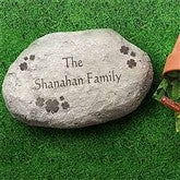 Irish Clover Large Personalized Garden Stone - 7966-LN