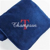 Personalized You Name It Fleece Blanket- Navy Blue - 7969-N