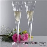 Reed & Barton Personalized Crystal Flute Set - 7979