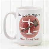 Coffee & Counsel Personalized Coffee Mug 15oz.- White - 8009-L
