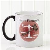 Coffee & Counsel Personalized Coffee Mug 11 oz.- Black - 8009-B