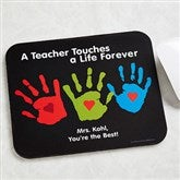 Touches A Life Personalized Teacher Mouse Pad - 8026