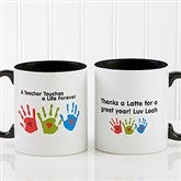 Touches A Life Personalized Teacher Coffee Mug 11 oz.- Black - 8027-B
