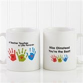 Touches A Life Personalized Teacher Coffee Mug 11 oz.- White - 8027-S