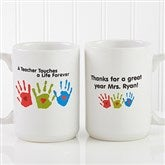 Touches A Life Personalized Teacher Coffee Mug 15 oz.- White - 8027-L