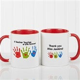 Touches A Life Personalized Teacher Coffee Mug- 11 oz.- Red - 8027-R