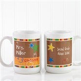 Preschool/Daycare Personalized Teacher Coffee Mug 15oz.- White - 8033-L