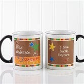 Preschool/Daycare Personalized Teacher Coffee Mug 11oz.- Black - 8033-B