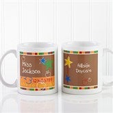 Preschool/Daycare Personalized Teacher Coffee Mug 11 oz.- White - 8033-W