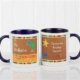 Preschool/Daycare Personalized Teacher Coffee Mug 11oz.- Blue - 8033-BL