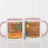 Preschool/Daycare Personalized Teacher Coffee Mug 11oz.- Pink - 8033-P