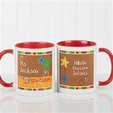 Preschool/Daycare Personalized Teacher Coffee Mug 11oz.- Red - 8033-R
