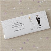 Wedding Party Characters Custom Candy Bar Wrappers - 8034